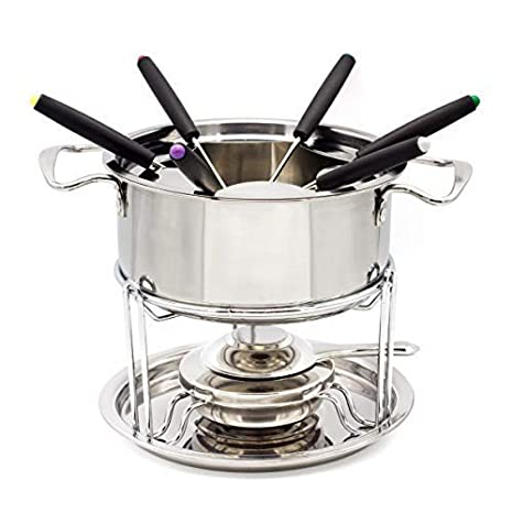 WZH - Juego de 13 fondues de acero inoxidable para fondue de ...