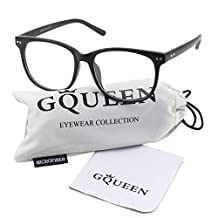 Glasses Queen 201581 Large Oversized Frame Horn Rimmed Clear Lens Glasses