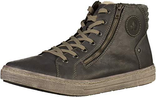 Herren 30921 Rieker Schwarz 45 Sneaker Rauch Granit Grau Hohe 5dd1nwrWqF