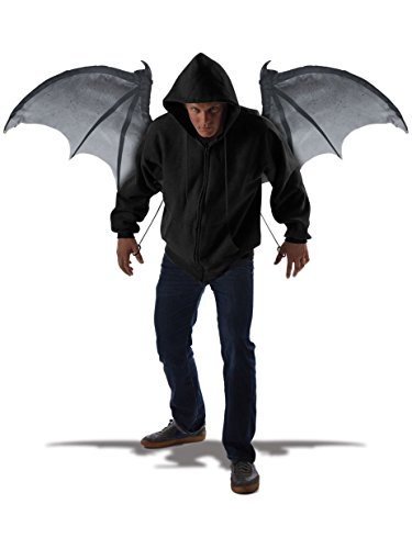 (California Costumes Men's Wicked Wings, Gray/Black One)