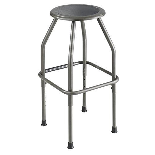 Pemberly Row Adjustable Drafting Stool in Pewter by Pemberly Row