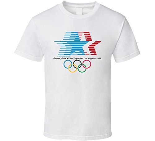 - Los Angeles 1984 Summer Olympics T Shirt 2XL White