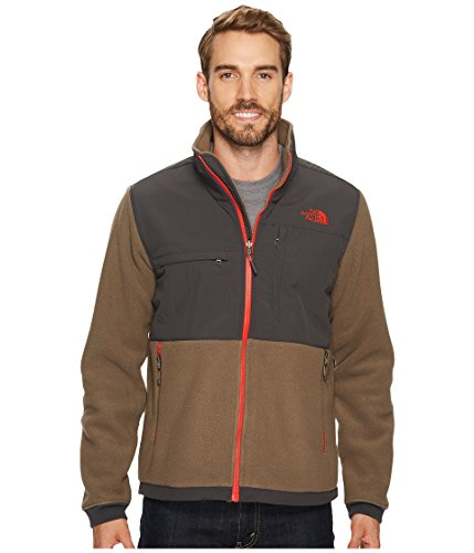 (The North Face Men's Denali 2 Jacket Recycled Falcon Brown/Asphalt Grey Size Medium)