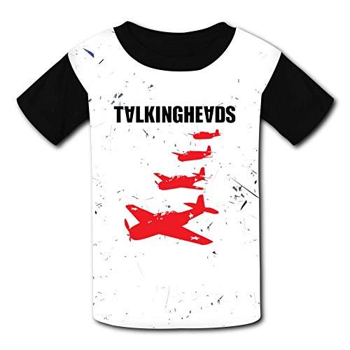 Black6Red Elio Talking Heads Childrens 3//4 Sleeve T-Shirt
