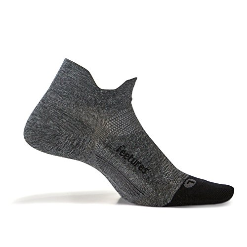 Feetures - Elite Ultra Light - No Show Tab - Gray - Size Medium