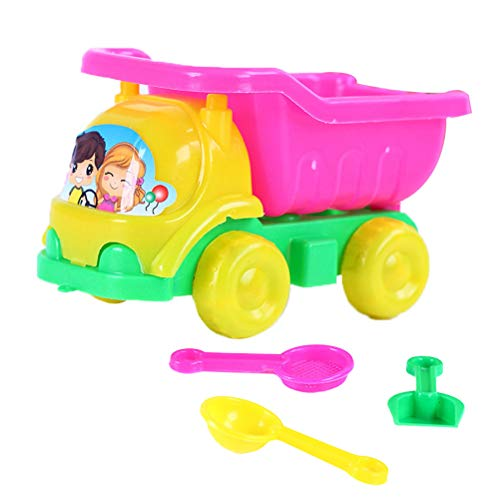 LIOOBO 4pcs Beach Play Sand Car Plastic Toys Play Vehicles Dump Truck Play Toy Drop-Resistant Play House Toy for Infant…
