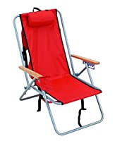 Rio Brands Wear Ever Backpack Chair, Red by Rio Brands, LLC - IMPORT
