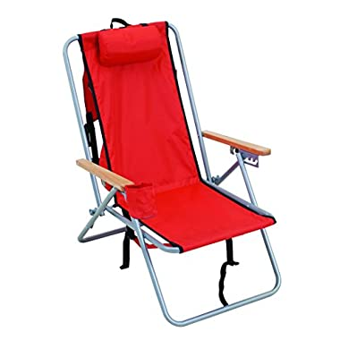 Rio Brands Wear Ever Backpack Chair, Red