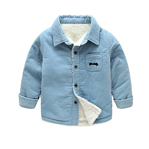 BibiCola 2016 baby boys winter warm jacket kids Plus velvet thickening warm clothes for boy children spring autumn ()
