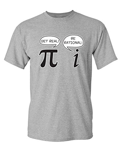 Get Real Be Rational Pi Graphic Cool Novelty Funny Youth Kids T Shirt YM Sport (T-shirt Rational Pi)