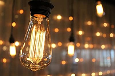 Edison light bulb - 6 Pack - Choose from many different designs. 40 watt and 60 watt. Inspired by Thomas Edison these incandescent filament style bulbs provide retro vintage light ambiance