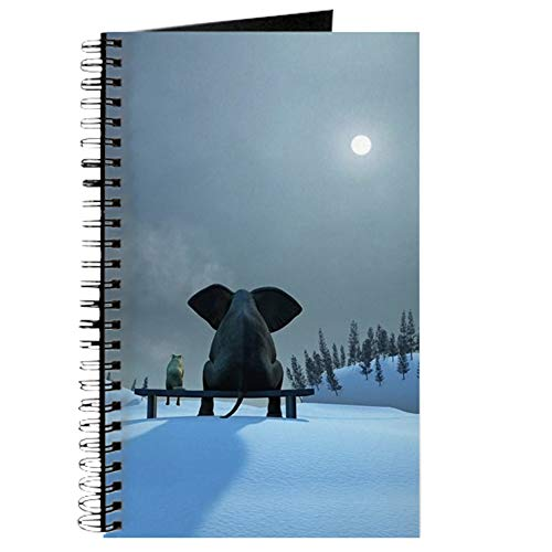 CafePress Dog and Elephant Friends Spiral Bound Journal Notebook, Personal Diary, Task Journal