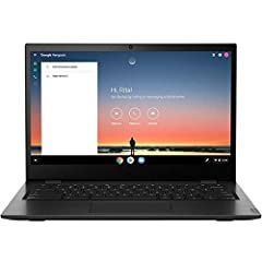 """The 14"""" 64GB multi-touch IPS 14E Chromebook from Lenovo is a lightweight and compact system with a reinforced hinge that keeps it protected from bumps and bruises. It's equipped with a 1.6 GHz AMD a4-9120c dual-core processor and 8GB of DDR4 ..."""