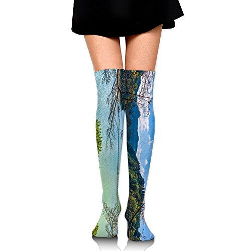 PengMin Lake Forest Cotton Compression Socks For Women. Graduated Stockings For Nurses, Maternity, Travel, Flight,Varicose Veins,Running & Fitness, Calf Support. by PengMin