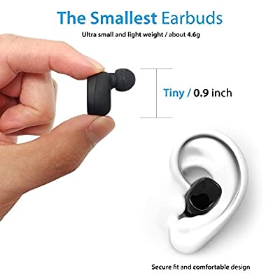 Photive True Wireless Bluetooth Earbud Headphones HD Sound, In-ear Comfortable & Secure Fit, Sweatproof, Long Lasting Battery, Perfect Bluetooth for Android & IOS
