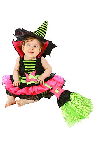 Princess Paradise Baby Girls' Spiderina Deluxe Costume, Black, 6 to 12 Months - Baby Broom Costume
