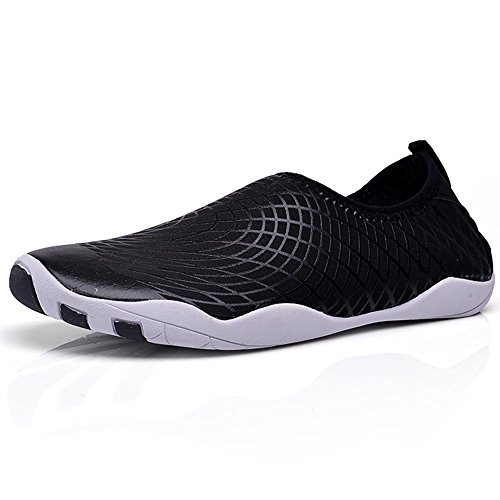UNN Mens Slip-on Water Shoes Breathable Beach Swim Surf Yoga Socks Outdoor Exercise Arrival Update Version Blac45