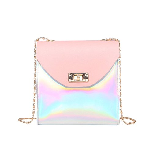 Price comparison product image Clearance Deals Women Shoulder Bag Crossbody Bag,TOOPOOT Lady Small Zip Pure Colourful Square Handbag Messenger Bag (Pink)