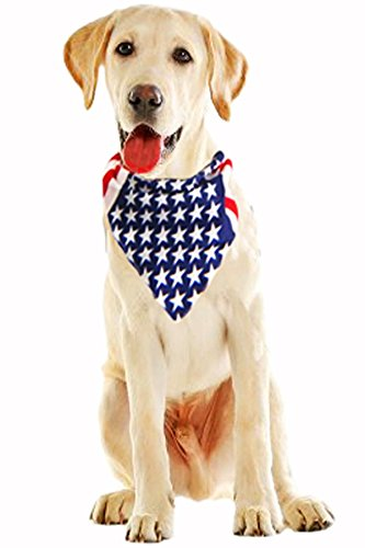 American Flag Pet Bandana – Handmade Large Dog or Cat Handcrafted Flag design Bandana For Pets