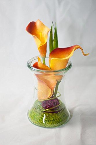 Callas Im Weckglas Tischgesteck Tischdeko In Orange U Grun Mit