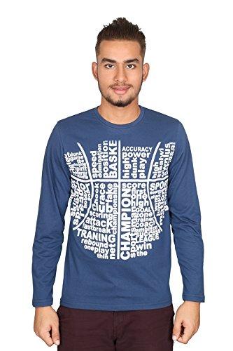 Vector X VTC-002-B Full Sleeves Cotton Round Neck T Shirt