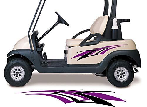 Golf Cart Graphics - Golf Cart Decals Accessories Two Color Go Cart Stickers GCA1215