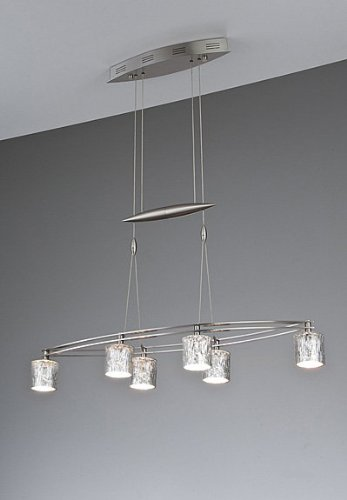 Holtkoetter 5506 HBOB G5030 Halogen Low-Voltage Contemporary Chandelier, 6-Light, 31.5