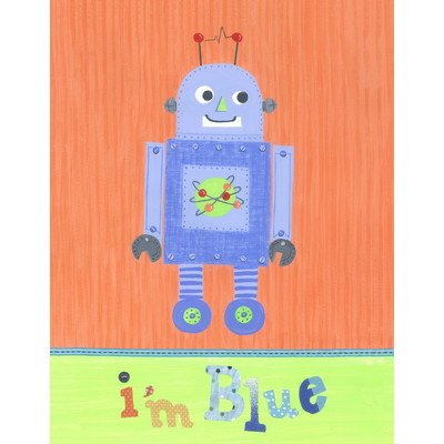 The Little Acorn Wall Art, Blue Robot