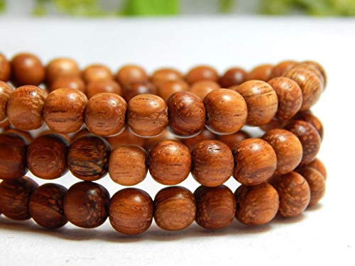 70 Natural Bayong Wood Beads Wooden Round Nature Red Brown DIY Craft 6mm