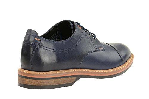 Clarks Pitney Cap - Zapatos de cordones de Piel para hombre azul azul