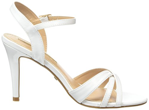Buffalo Shoes 312703 Patent Pu - Sandalias con Cuña Mujer Blanco (WHITE)