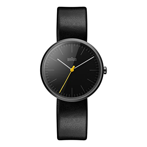 Braun BN0172BKBKL Mens Classic Slim Black Leather Strap Watch