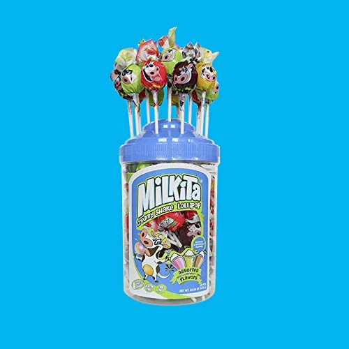Milkita Milk Assorted Jar Lollipops 50 pcs
