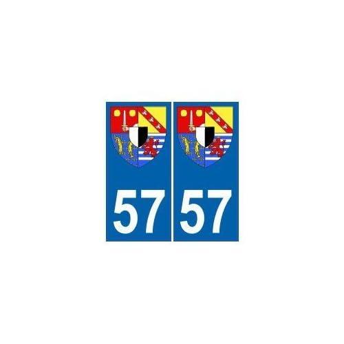 57 Moselle autocollant plaque blason armoiries stickers département - droits