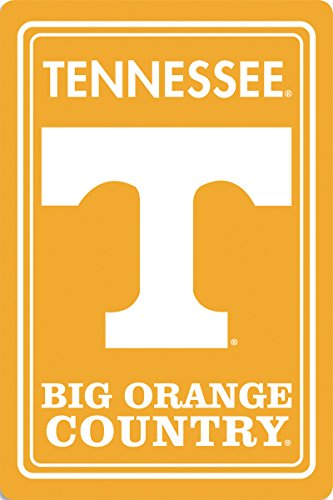 (BSI NCAA Tennessee Volunteers Metal Sign, 12