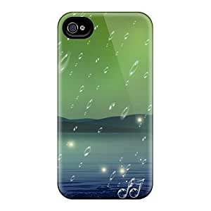 AWU DIYLJF phone case Iphone 4/4s Case Cover - Slim Fit Tpu Protector Shock Absorbent Case (autumn Music)