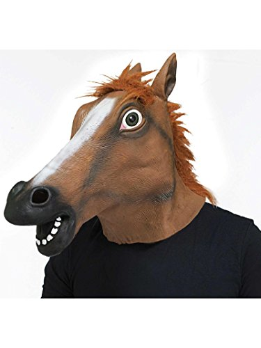 (Latex Horse Head Mask ~ Kentucky Derby /)