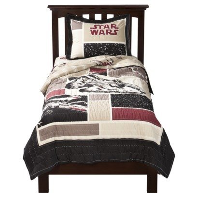 Star Wars Embroidered Quilt Set- Upscale Version - Full/Queen Size by Jay Franco & Sons for Lucas Films LTD