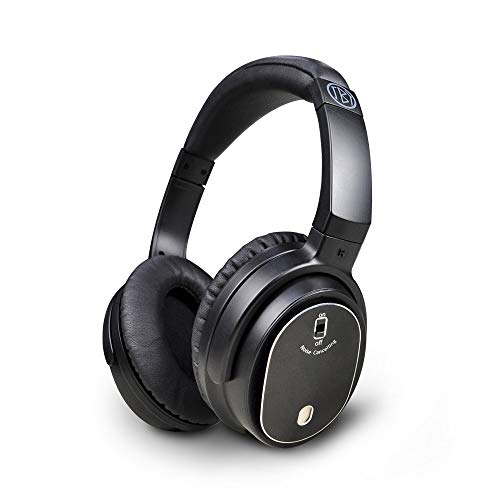 (Juboury Solace.Pro Active Noise Cancelling Wired Closed-Back Over-Ear Headphones for iPhone,PC and Flight with Carrying Case(Wired,Black))