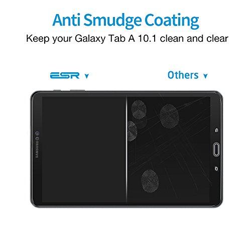 ESR Samsung Galaxy Tab A 10.1 Screen Protector [SM-T585( T580/T580N)], [2 Pack] 0.33mm [9H Tempered Glass][Bubble-Free] Anti-Scratch Anti-Fingerprint/Oil/Smudge for Samsung Galaxy Tab A 10.1 by ESR (Image #3)