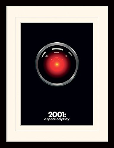 1art1 107209 2001: Odyssee Im Weltraum - Hal Gerahmtes Poster Für Fans Und Sammler 40 x 30 cm