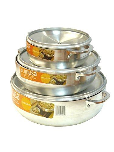 IMUSA GAU 89226 3 Piece Caldero Silver product image