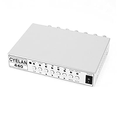 4CH Color Real Time Video Quad CCTV Splitter Processor Switch System by uxcell
