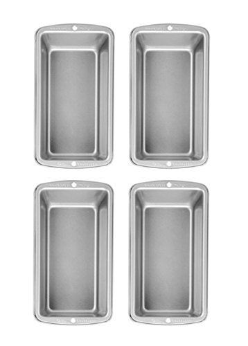 Wilton non-stick 8.5x4.5 Stainless Steel Non-Stick Med Loaf Pan - Set 4 by Wilton