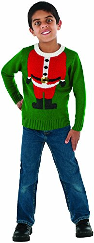 Rubie's Costume Santa Head Ugly Christmas Sweater Costume, One Color, Small