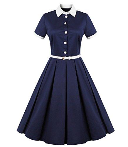 FavorGraces Vintage Casual Retro Dresses