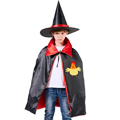 2fed01f11f Children Funny Farm Farmer Chicken Halloween Party Costumes Wizard Hat Cape  Cloak Pointed Cap Grils Boys