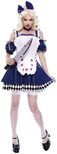 (Paper Magic Women's Alice Wicked Costume, Blue/White, Small)