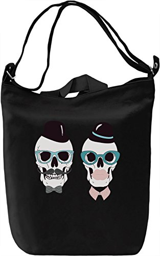 Hipster skulls Borsa Giornaliera Canvas Canvas Day Bag| 100% Premium Cotton Canvas| DTG Printing|