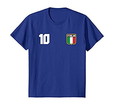 Italia T-shirt Italian Soccer Jersey Style Italy